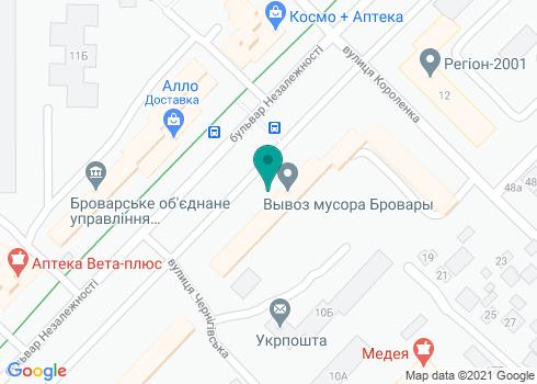 Броварская центральная районная больница, отделение терапевтической стоматологии - на карте