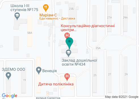 Детская поликлиника Шевченковского района, Филиал №9 КНП «КДЦ» - на карте