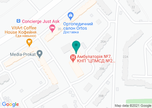 Детская поликлиника Деснянского района г. Киева, Стоматологическое отделение - на карте
