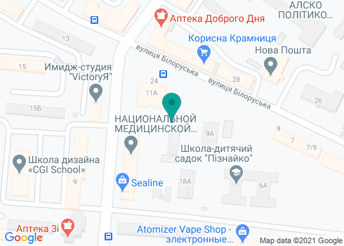Детская поликлиника Шевченковского района, Филиал №8 КНП «КДЦ» - на карте