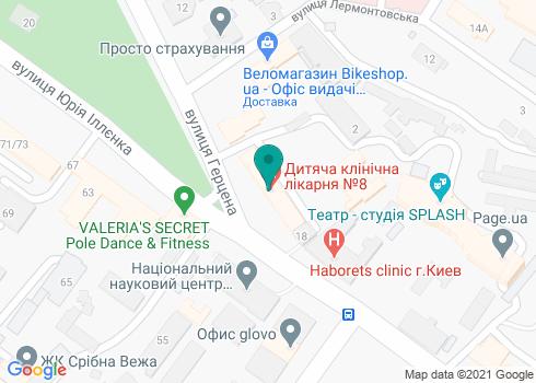 Детская клиническая больница №8 Шевченковского района г. Киева - на карте