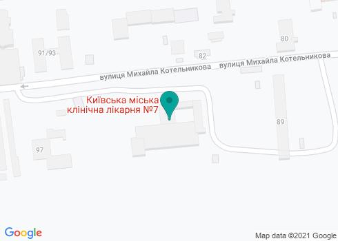Киевская городская клиническая больница № 7, Консультативная поликлиника - на карте