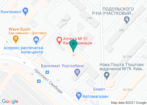 Поликлиника №2 Подольского района, Стоматологическое отделение - на карте