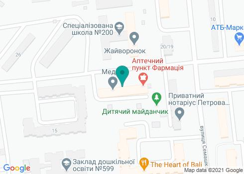 Поликлиника №2 больницы для ученых НАН Украины, Стоматологическое отделение - на карте