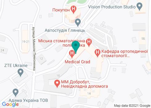 Поликлиника №2 Шевченковского района, Стоматологическое отделение - на карте