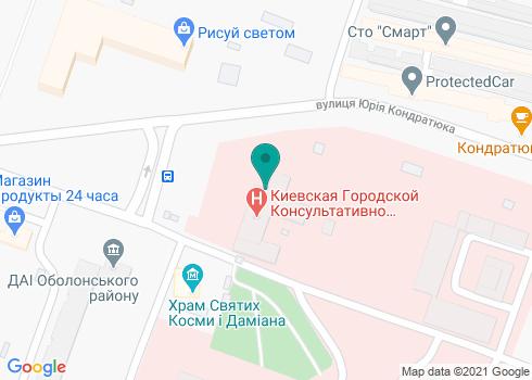 Поликлиника №3 Оболонского района, Стоматологическое отделение - на карте
