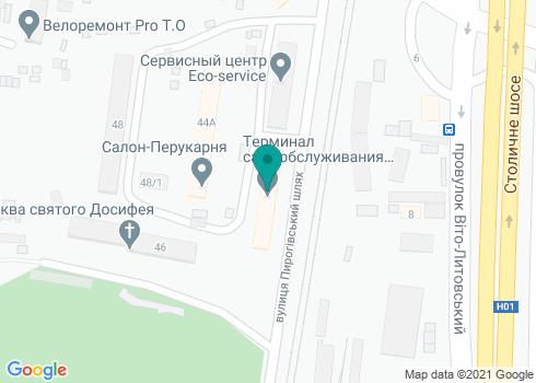 Стоматология на Пироговском Шлях - на карте