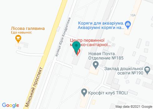 Центр первичной медико-санитарной помощи № 2 Оболонского района - на карте