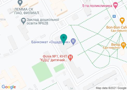 Центральная поликлиника Днепровского района, Стоматологическое отделение - на карте