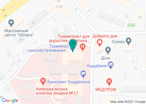Центральная поликлиника, Стоматологическое отделение поликлинического отделения №1 - на карте