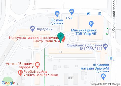 Центральная поликлиника Оболонского района, Стоматологическое отделение - на карте