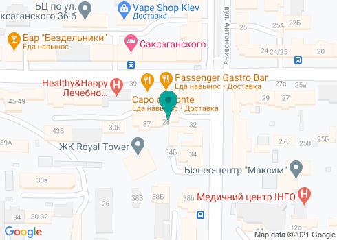 Челюстно-лицевой институт «Украина» – Киевского отделения Челюстно-лицевого Института Барселона - на карте
