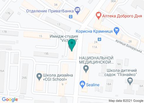 Стоматологическая клиника «Гуща Dental» - на карте