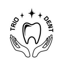 Триодент, стоматология - логотип